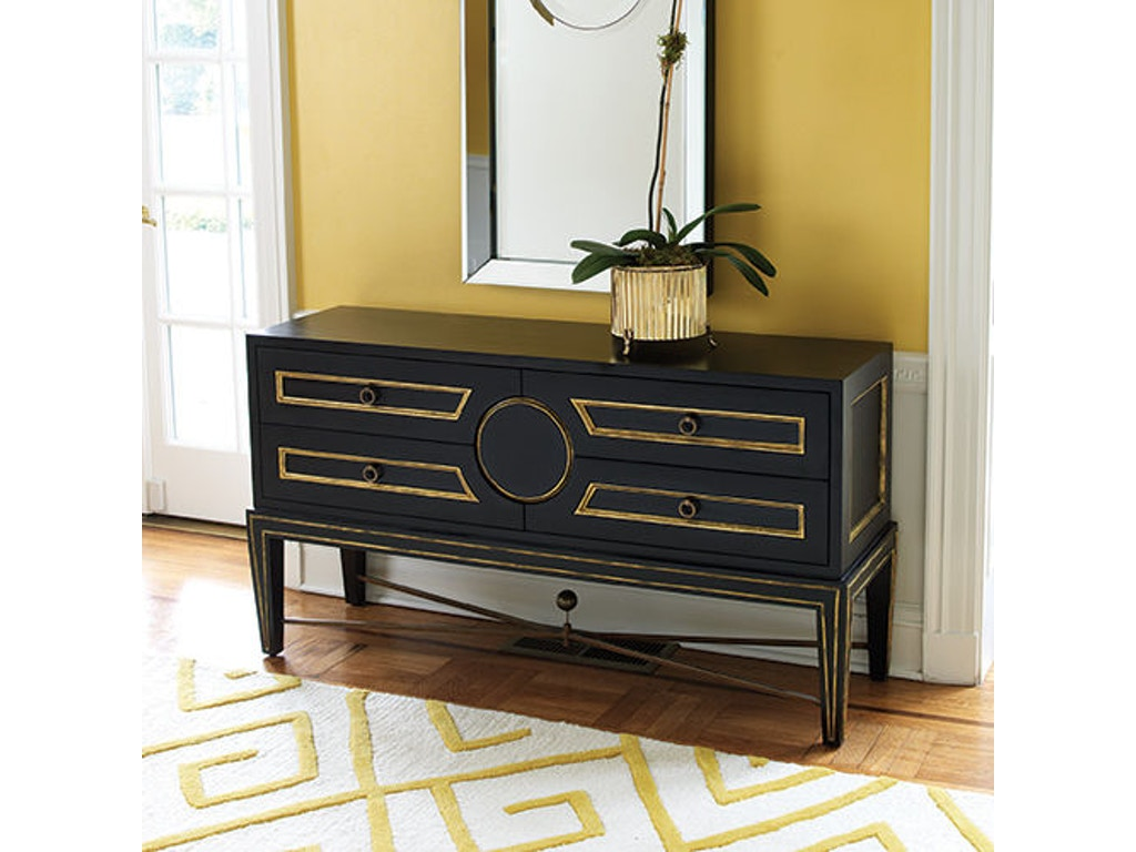 Global Views Living Room Collectors Console Black 2448 Bacons Furniture Port Charlotte Fl