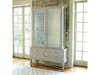 Global Views Collectors Cabinet-Grey 2449
