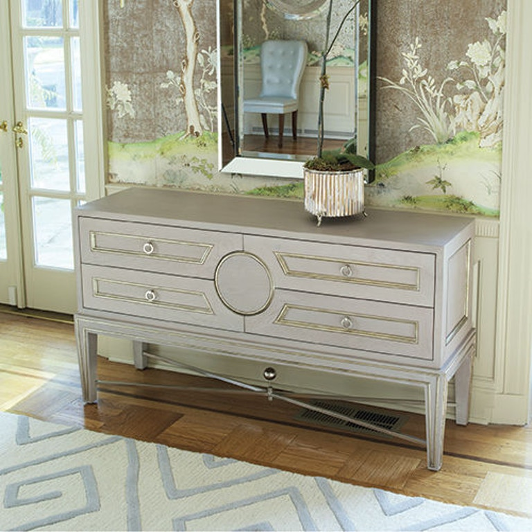 Global Views Link Console: Global Views Living Room Collector's Console-Grey 2451