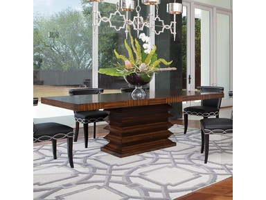 Global Views Dining Room Zig Zag Dining Table 2498 Woodbridge Interiors S