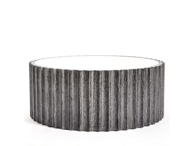 Global Views Reflective Column Cocktail Table-Black Cerused Oak 2563