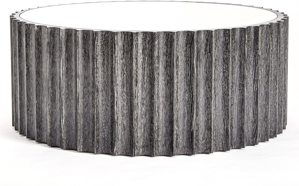 Global Views Living Room Reflective Column Cocktail Table