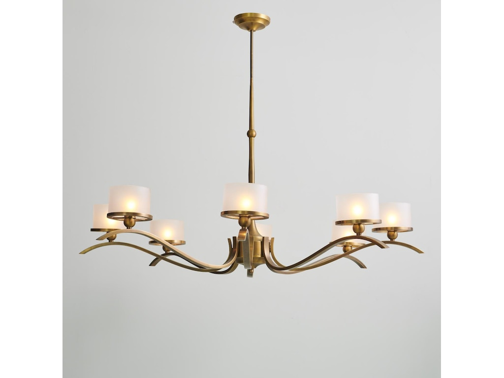 Global Views Lamps And Lighting French Curve Chandelier Light Bronze Gv993054 Walter E Smithe Furniture Design