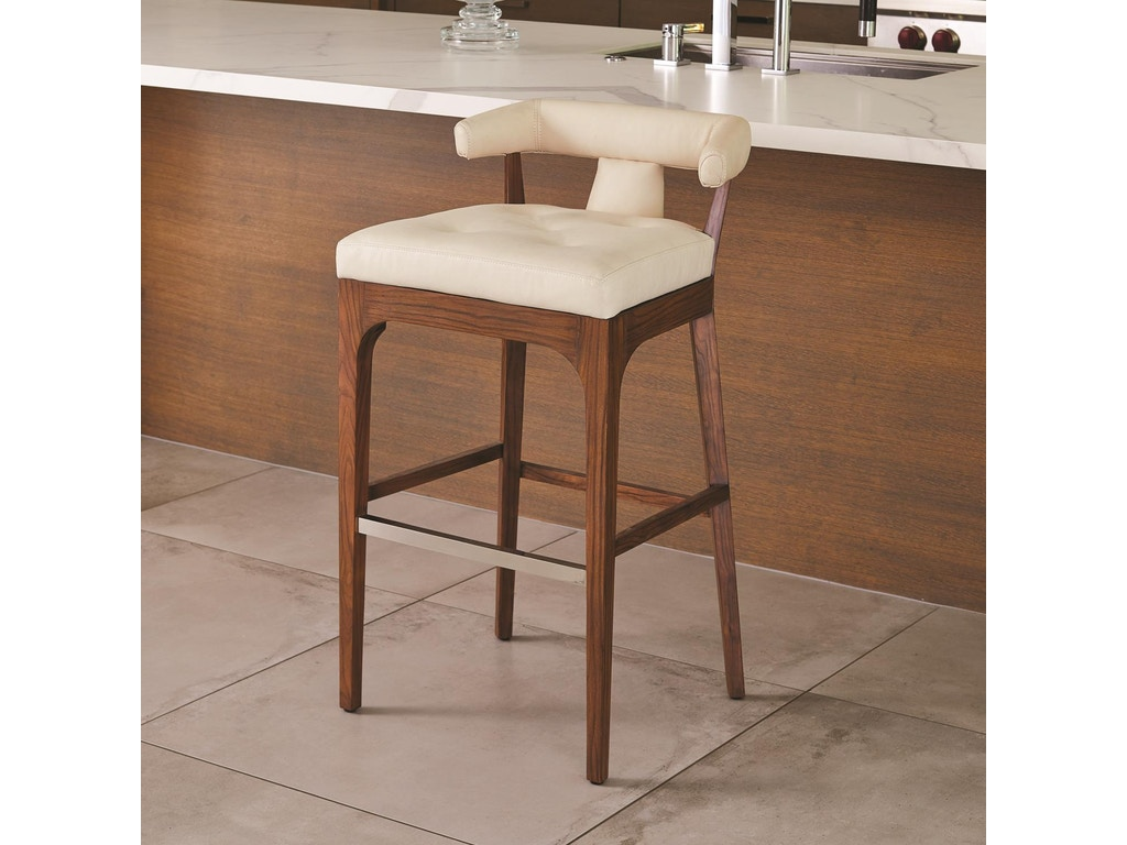Marvelous Global Views Bar And Game Room Moderno Counter Stool Ivory Marble Leather Gv2591 Walter E Smithe Furniture Design Customarchery Wood Chair Design Ideas Customarcherynet