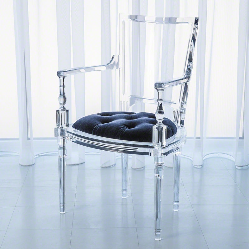 Attractive Global Views Marilyn Acrylic Arm Chair Admiral Blue GV331164 From Walter E.  Smithe Furniture