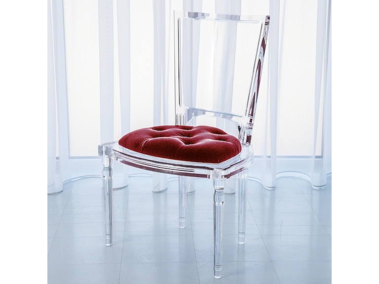 Global Views Marilyn Acrylic Side Chair Red Pepper 3 31232