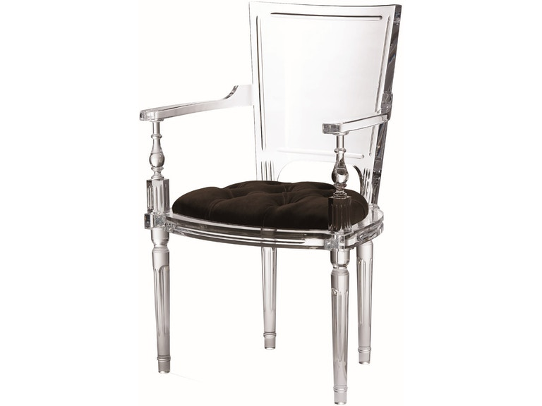Marilyn Acrylic Arm Chair Black Gv331247