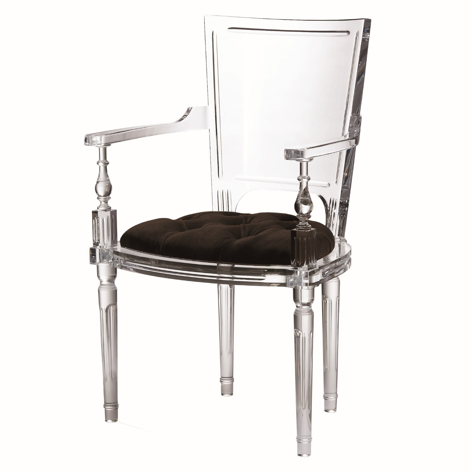 Merveilleux Global Views Marilyn Acrylic Arm Chair Black 3.31247
