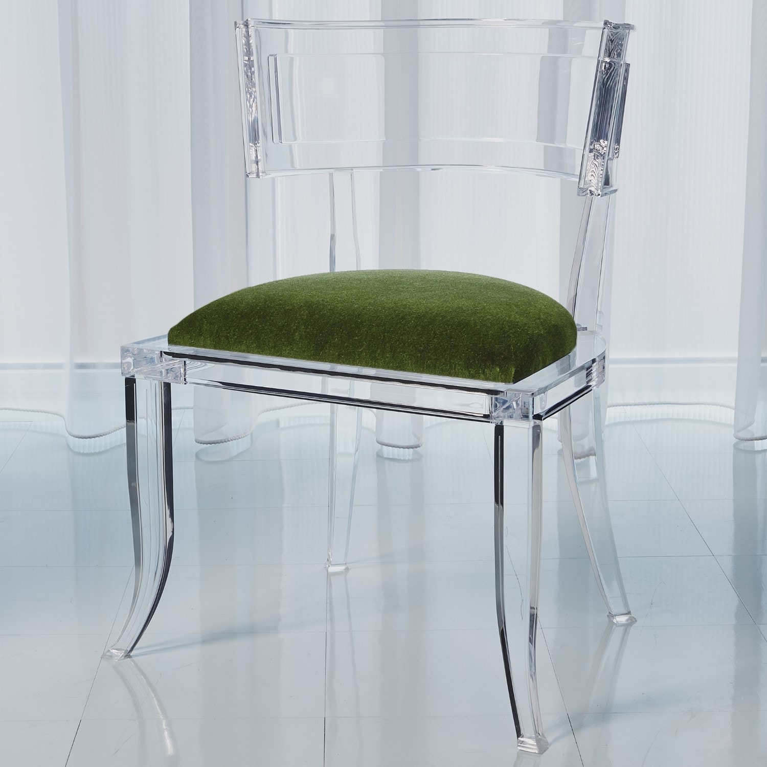 Global Views Klismos Acrylic Chair Emerald Green GV331326 From Walter E.  Smithe Furniture +
