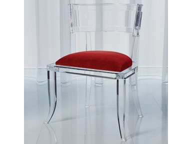 Klismos Acrylic Chair Red Pepper