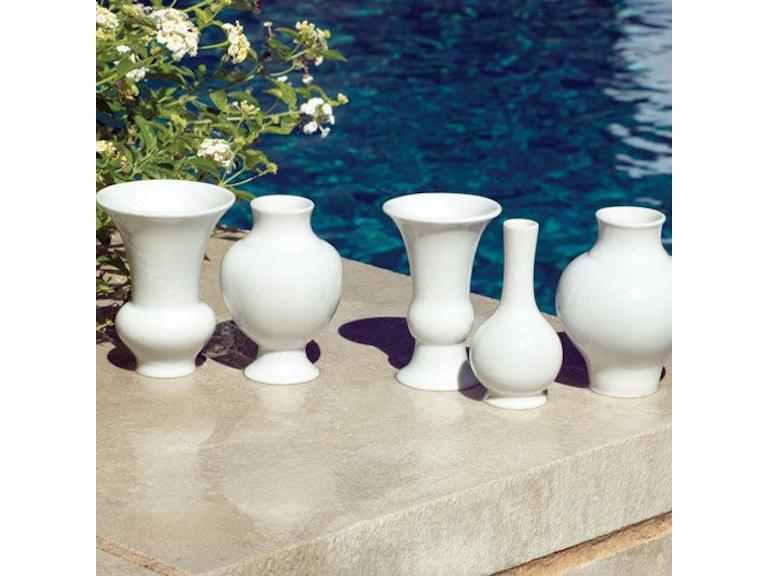 Global Views 480026 S5 Mini Chinoise Vases White Interiors