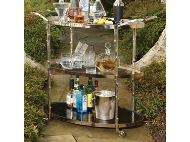 Global Views Arbor Bar Cart-Nickel 8.82048