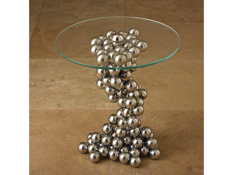 Global Views Living Room Sphere Table Nickel 8 82030