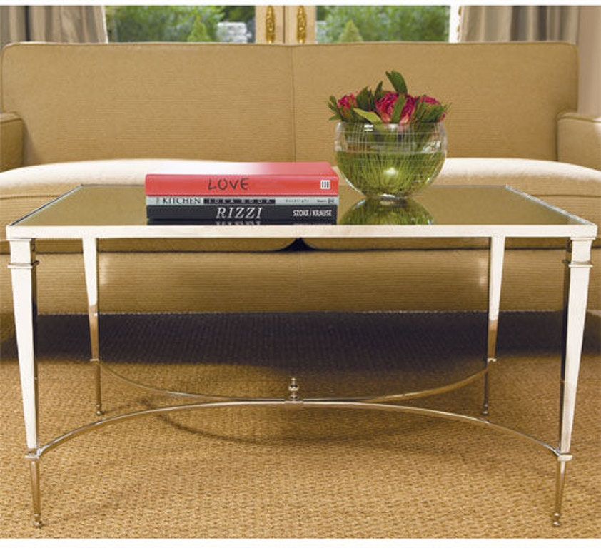 Global Views Link Console: Global Views Living Room French Square Leg Cocktail Table
