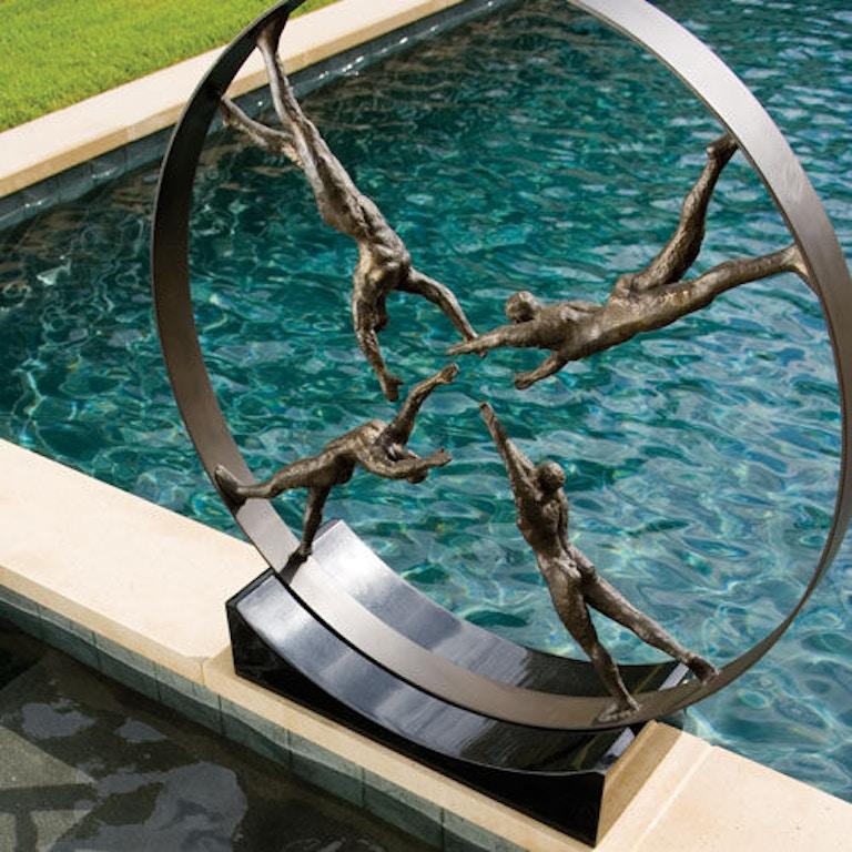 Global Views Horse: Global Views Accessories Reaching For Center Sculpture