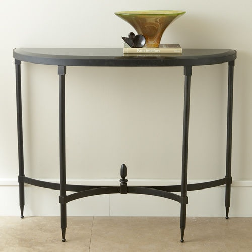 Global Views Fluted Iron Collection Console With Granite Top GV880865 From  Walter E. Smithe Furniture