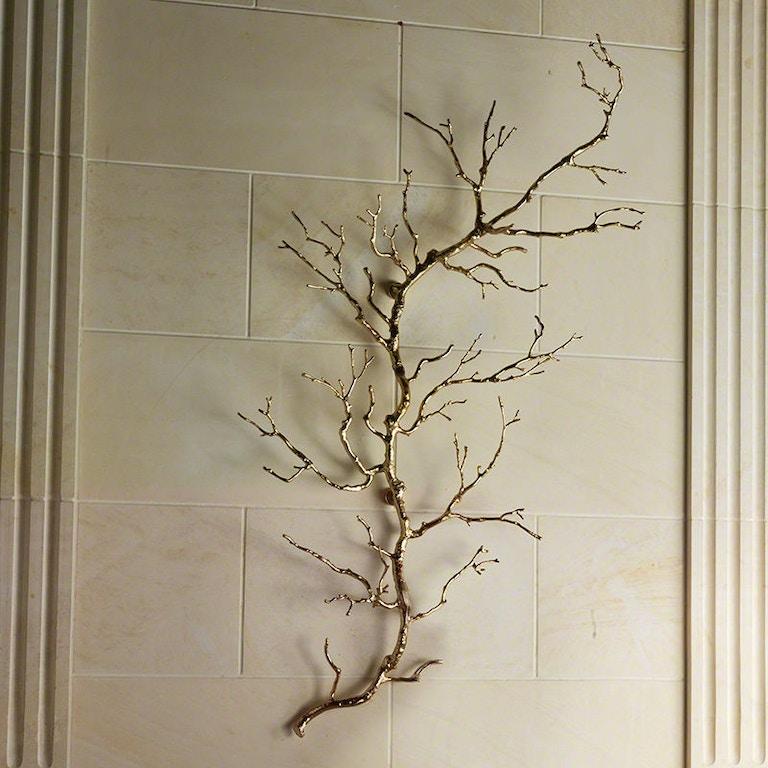 Global Views Wall Diver: Global Views Accessories Twig Wall Art-Brass 9.92246