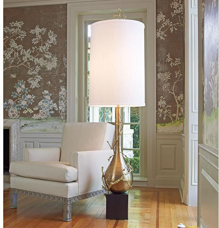 Crystal Chandelier Edmonton: Global Views Lamps And Lighting Twig Bulb Floor Lamp-Brass