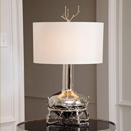 Good Global Views Fat Nickel Twig Table Lamp 9.92090