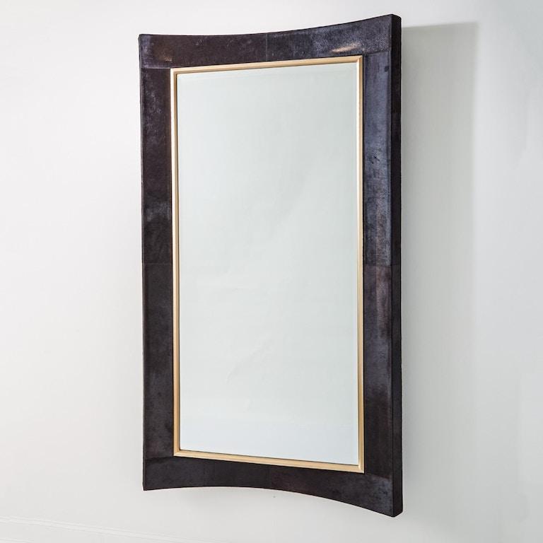 Global views accessories curved floor mirror black hair on for Floor mirror canada