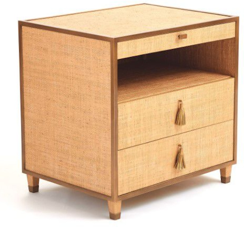 Global Views Chest: Global Views AG2.20003 Bedroom D'oro Bedside Chest
