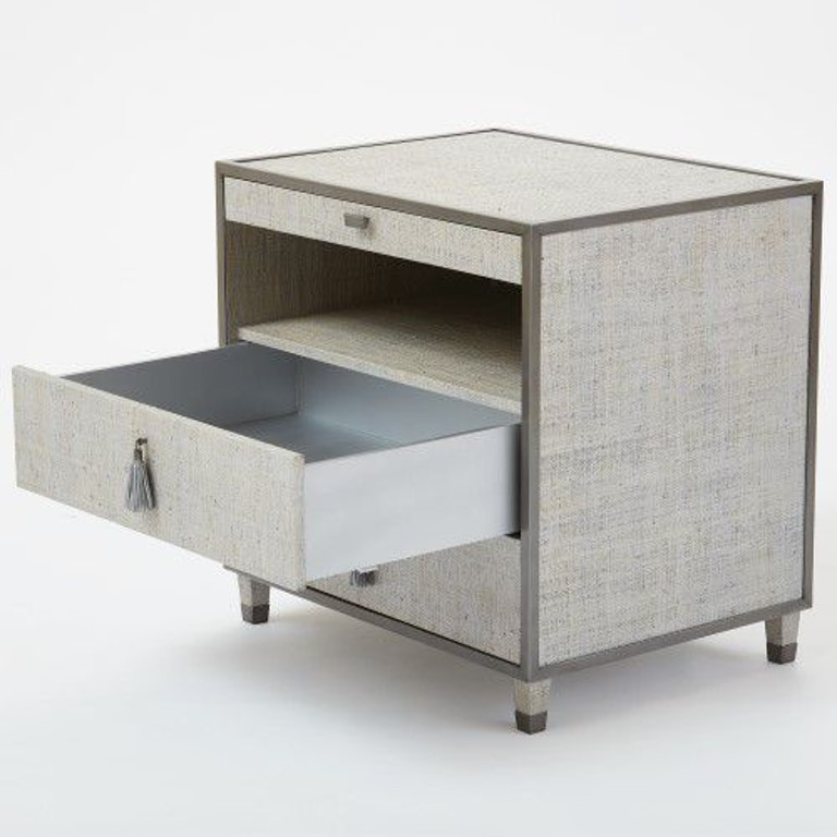 Global Views Chest: Global Views AG2.20009 Bedroom Argento Bedside Chest