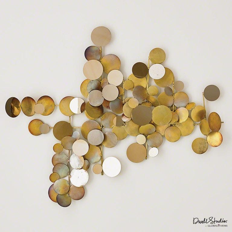 Global Views Accessories Dot Wall Decor-Brass/Gold D9 90055