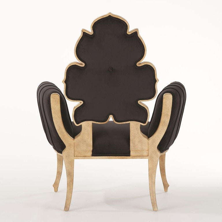 Global Views Wiggle Chair: Global Views Living Room Wiggle Chair-Black JB2119