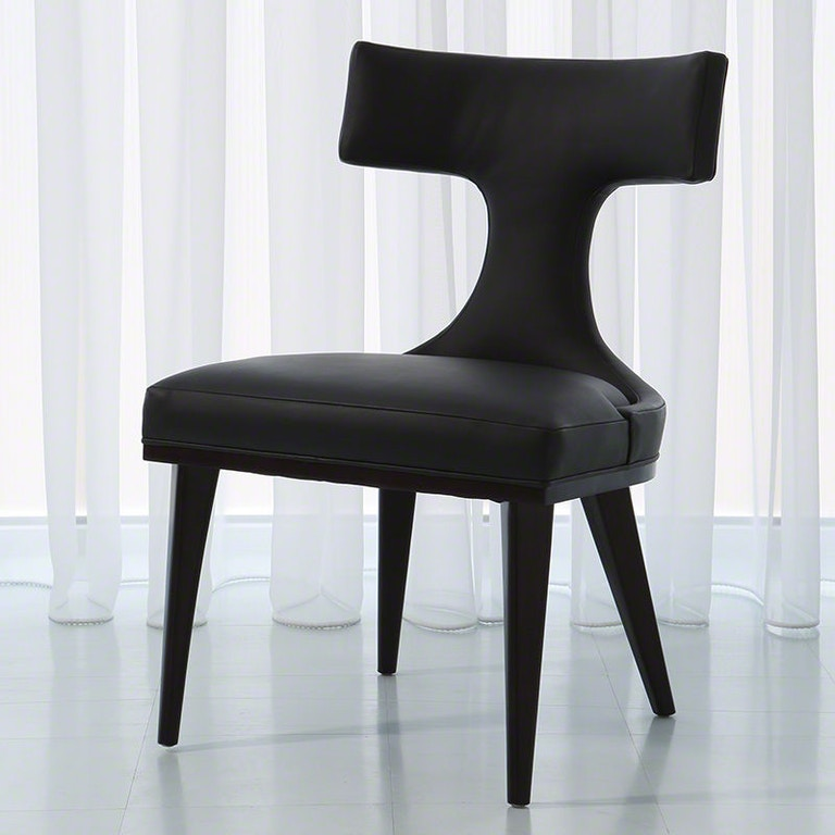 Global Views Dining Chairs: Global Views Dining Room Anvil Back Dining Chair-Black