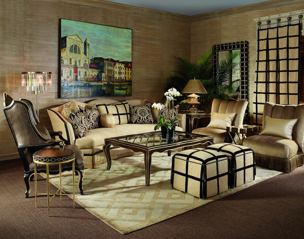 Marge Carson Living Room Avery Sofa Ave43 Stowers