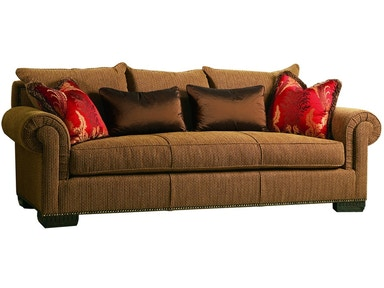 Marge Carson Living Room Bentley Sofa By43s Hickory