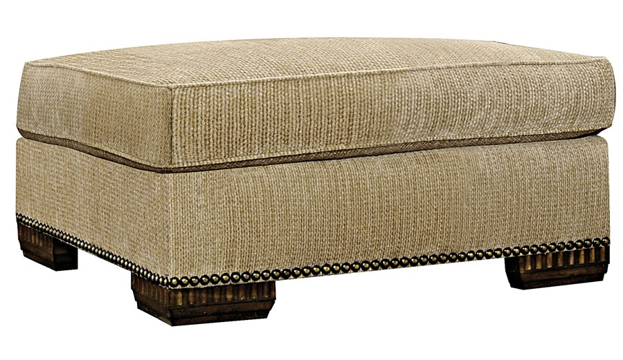 Marge Carson Living Room Bentley Ottoman BY48L At Toms Price Furniture