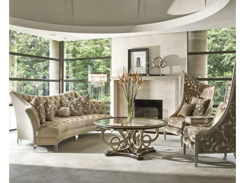 Marge Carson Living Room Deville Sofa Dev43 Hickory