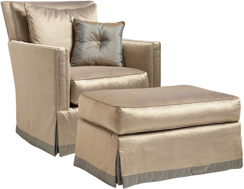 Marge Carson Living Room Alexander Ottoman An48 Toms