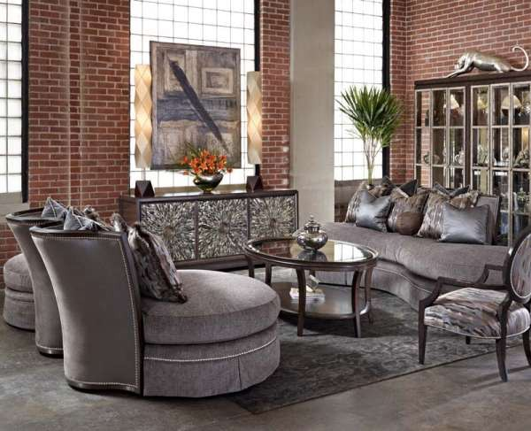 Marge Carson Kylie Sofa KLE43 From Walter E. Smithe Furniture + Design