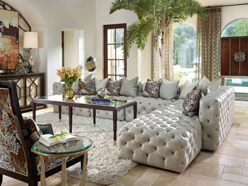 Marge Carson Living Room Manhattan Sectional Mansec