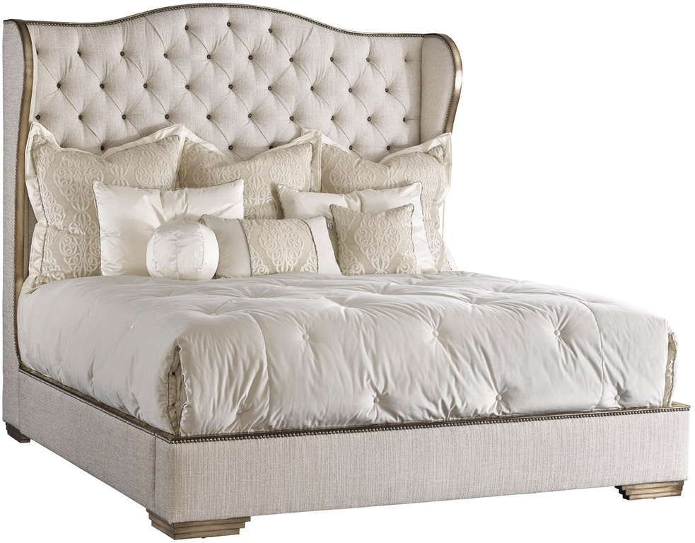 Marge Carson Bedroom Palo Alto Traditional Bed Pal11 2 Hickory