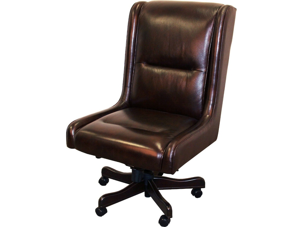 Parker living home office leather desk chair dc 108 ci for Home office chairs leather