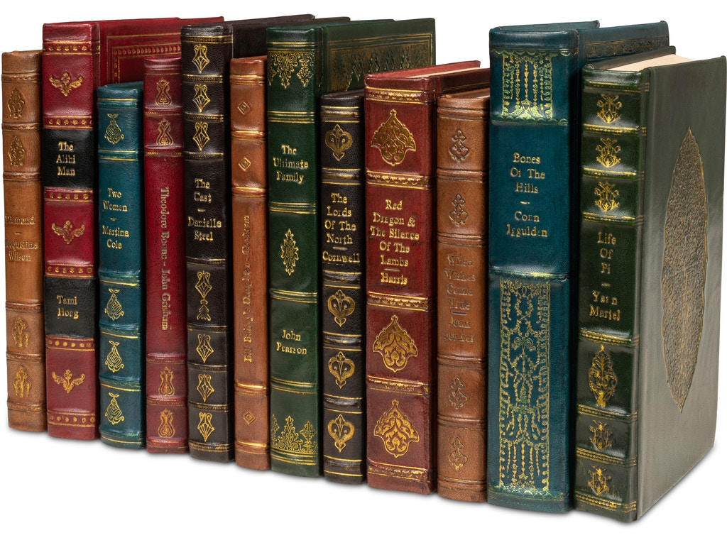 Rebound Leather Books Assorted Set 12 17651