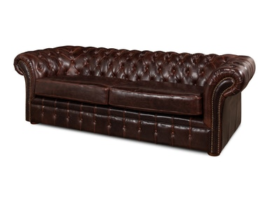 Sarreid Piccadilly 3 Seat Sofa  Club Leather 27729