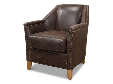 Sarreid Granville Leather Chair 29607