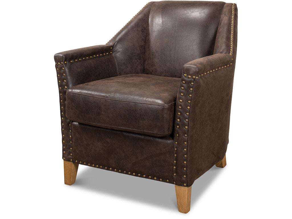 Sarreid Living Room Granville Leather Chair 29607 Toms