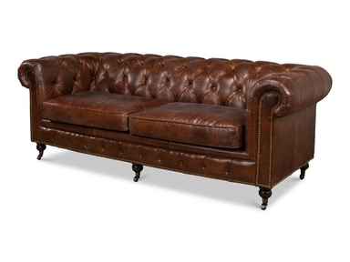 Sarreid Castered Chesterfield Sofa  3 Seater 29893