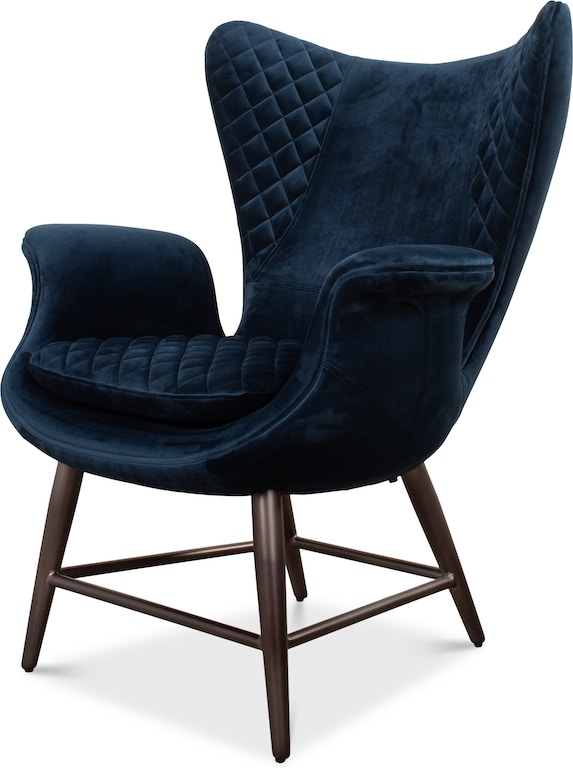 Stupendous Sarreid Living Room Wings Chair Blue 30027 Greenbaum Home Gmtry Best Dining Table And Chair Ideas Images Gmtryco