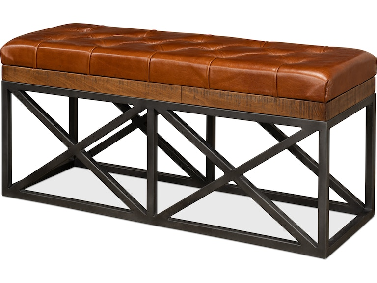 Sarreid Leather Cushion Double Bench 30396 From Walter E Smithe Furniture Design