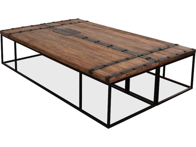 Sarreid Antique Doors Coffee Table 40486 - Sarreid Living Room Antique Doors Coffee Table 40486 - Toms-Price