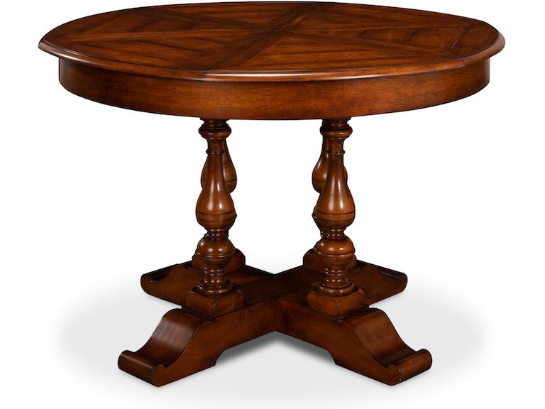 Sarreid Walnut Jupe Dining Table Small 78 15