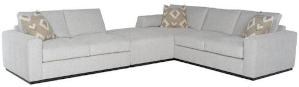 Tremendous Rc Furniture Living Room Boris Wood Base 3Pc Chaise Creativecarmelina Interior Chair Design Creativecarmelinacom