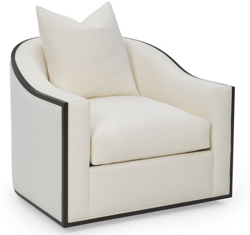 RC Furniture Living Room Caiden Wood Trim Swivel Chair