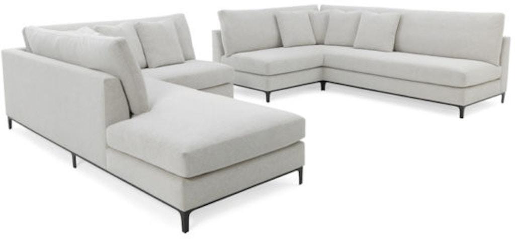 RC Furniture Living Room Jax Corner Sofa/Bumper Sectional ...